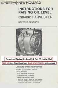 New Holland 890 892 Harvester Raising Oil Level Gearbox Instructions