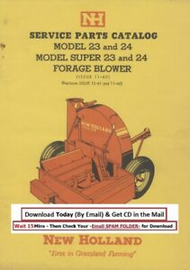 New Holland Forage Blower 23 24 Super Models Service Parts Manual 11 65