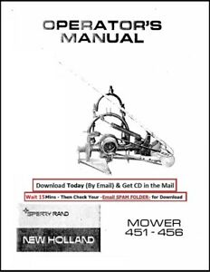 Sperry New Holland Mower 451 456 Sickle Operator Instruction Maint Manual