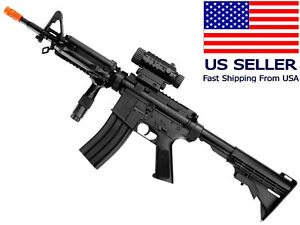 AIRSOFT M4 M16 Style Electric Gun AEG Semi Fully Automatic Battery Charger BBs $44.99