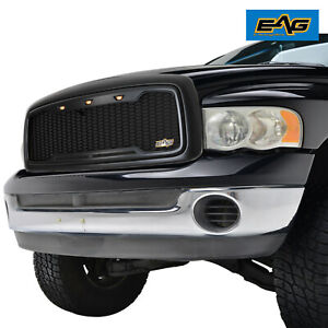 Eag Main Upper Grille Led Grill Replacement W Shell Fit 02 05 Dodge Ram 1500 Hd
