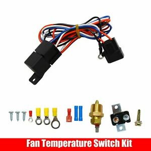 3 8 Npt Electric Radiator Cooling Fan Thermostat Temperature Switch Relay Kit