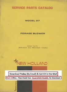 New Holland Forage Blower Model 27 Service Parts Manual