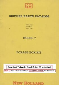 New Holland Forage Box Kit Model 7 Service Parts Manual