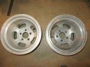 Pair Of 14x10 Inch Us Indy Mag Rims 5 Bolt 4 1 2 Bolt Center 3 1 2 Inch Back Sp