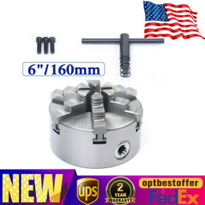 6 Jaw Self centering Lathe Chuck For Milling Machine Hardened Steel 2500 R min