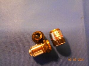 Microscope Objective Olympus Lot 3 Pieces
