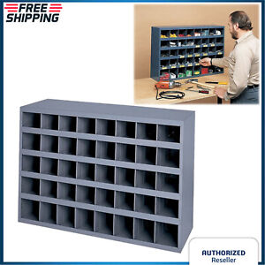 40 Hole Storage Bolt Bin Metal Cabinet Nuts Fasteners Screws Parts Organizer