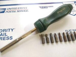 Snap On Ratcheting Screwdriver Rare Army Hunter Dark Green 75th Limited Edition