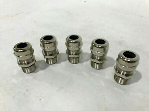 Lot Of 5 New Ladd 53112024 Skintop Ms npt 1 2 Cable Gland U225