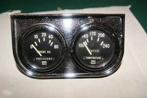 Nos Stewart Warner Vintage Gauges 2 1 16 Electric 12 Volt Oil Pressure Temp
