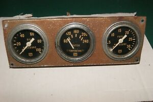 Stewart Warner Vintage Gauges 2 1 16 Used Set Of Three Brass Cases