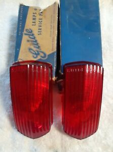 1951_1952 Oldsmobile 88 Tail Lights Lenses Pair Genuine Guide Original 3