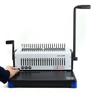 Comb Binding Machine 400 Sheet Paper Punch Binder For Letter Size 21 holes Us
