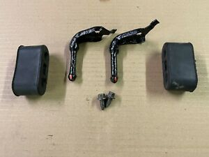 87 93 Ford Mustang Exhaust Tailpipe Rear Hanger Brackets Rubber Factory Oem