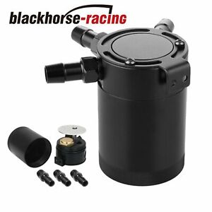 3 port Oil Catch can tank reservoir Air oil Separator Racing Baffled Universal