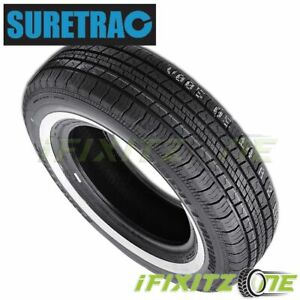 1 X New Suretrac Power Touring W w Whitewall 155 80r13 79s All Season Tires
