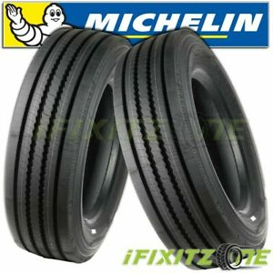 2 Michelin Pilot Xze 245 70r19 5 H All Position Steer Trailer Bus Truck Tires