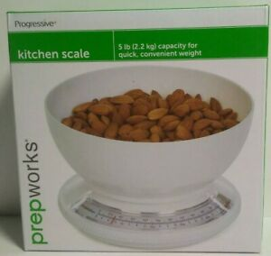 Prepworks by Progressive Kitchen Scale with Removable Clear Bowl 5lb Capacity $21.99