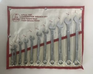 Gedore 11 Piece Wrench Set In Original Sleeve Roll