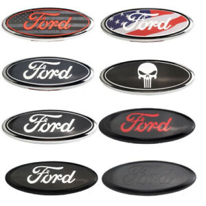 us 7 Inch Chrome For Ford F150 2005 2014 Tailgate Oval Emblem 1pc