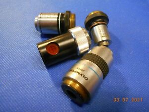 Microscope Objectives Olympus Lot Of 4