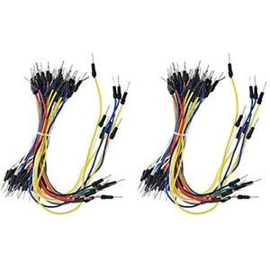 Rgbzone 130pcs Solderless Flexible Breadboard Jumper Wires Male To For Arduino