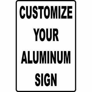 Custom Aluminum Sign Personalized Your Logo text Metal Outdoor Business Sign