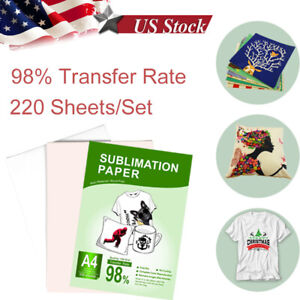 220 Sheets A4 125g Heat Sublimation Transfer Paper For Any Injet Sublimation Ink