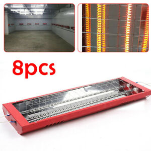 8 Set 2000w Spray Baking Booth Infrared Paint Curing Lamp Heater Heating Light