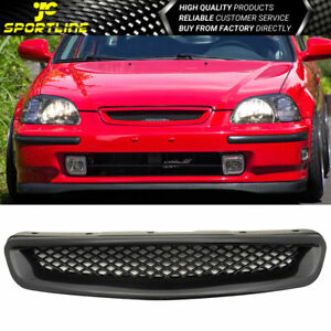 Fits 96 98 Honda Civic T r Style Abs Black Front Hood Grille Grills