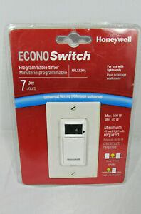 Honeywell Econo Switch Light Switch Programmable Timer Rpls530a New Sealed
