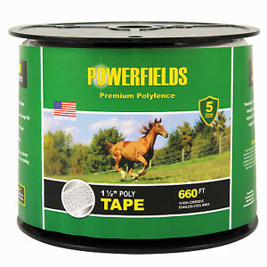 Powerfields Ew15 660 1 5 Wide White Electric Fence Poly Tape Quantity 6