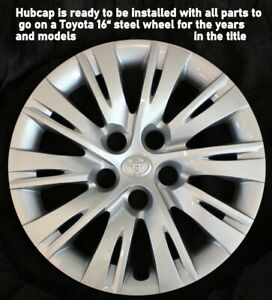 Hubcap 16 Toyota Camry Fits 2012 2013 2014 Hubcap For Steel Wheel To Cover