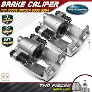 2x Brake Caliper W Phenolic Piston For Dodge Dakota 2003 2004 Rear Left Right