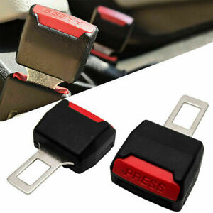 2 Pack Car Seat Belt Buckle Extension Extender Clip Alarm Safe Stopper Universal