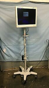Stryker Vision Elect Lcd Flat Panel Monitor 21 240 030 930 On Rolling Stand