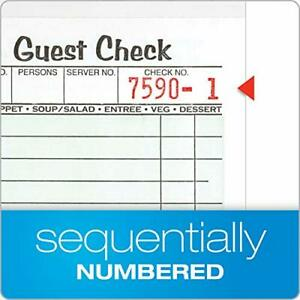 Adams 1 part Guest Check Books 3 2 5 X 6 3 4 10 Pads Of 50 Sheets Each