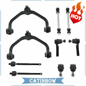 For 98 2011 Ford Ranger 10pcs Front Control Arm Ball Joints Inner Outer Tie Rods