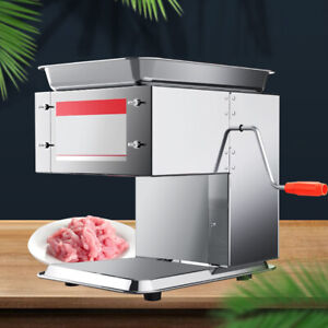 Automatic Electric Meat Slicer Stainless Steel 3 5mm Blade Cutter Food Machine