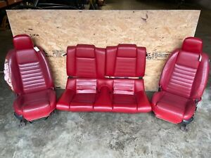 2005 Mustang Gt 4 6l Oem Complete Set Of Red Leather Seats Read Notes