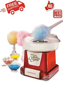 Retro Hard Sugar Free Candy Countertop Cotton Candy Maker In Red