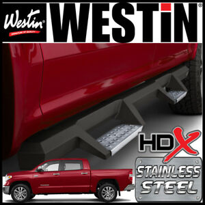 Westin Hdx Drop Stainless Steel Nerf Step Bars Fit 2007 2021 Tundra Crewmax Cab