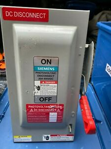 Siemens Photovoltaic Disconnect Hf361pv Fusible Heavy Duty Switch