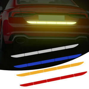 Car Suv Reflective Warn Strip Tape Car Bumper Safety Stickers Decal Accessory