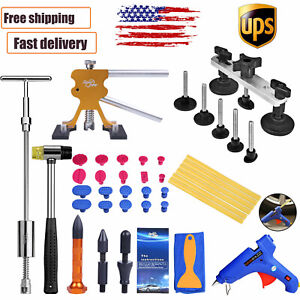 Pdr Paintless Dent Removal Puller Lifter Kit Dent Line Board Repair Hammer Tool