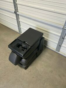 2015 2020 Ford F150 F250 Center Console Black Leather Jump Seat Console