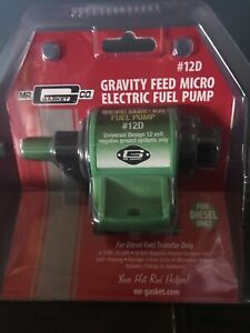 Gravity Feed Micro Electric Fuel Pump By Mr Gasket