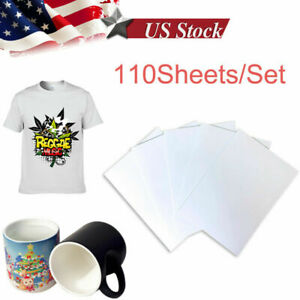 110 Sheets A4 125g Dye Sublimation Paper Transfer For Injet Epson Light Fabric