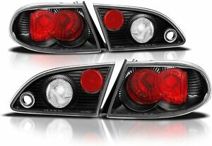 For 1998 2002 Toyota Corolla Jdm Rear Tail Brake Lights Clear Red Set Pair 2pc